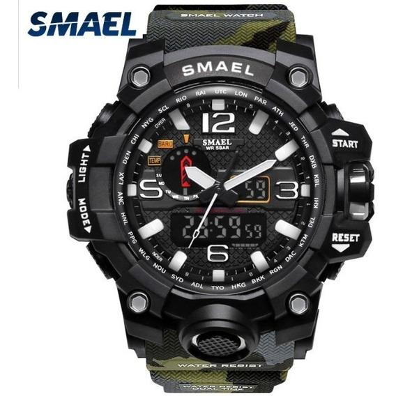 Relógio Masculino Smael Militar Camuflado Anti Shock