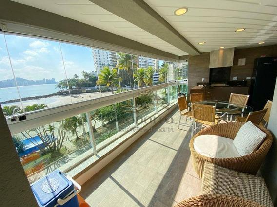 Apartamento Frente Total Com 5 Suítes À Venda, 175 M² Por R$ 1.800.000 - Praia Das Astúrias - Guarujá/sp - Ap1114