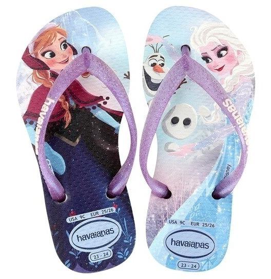 Chinelo Havaianas Infantil Disney Frozen Original Promoção
