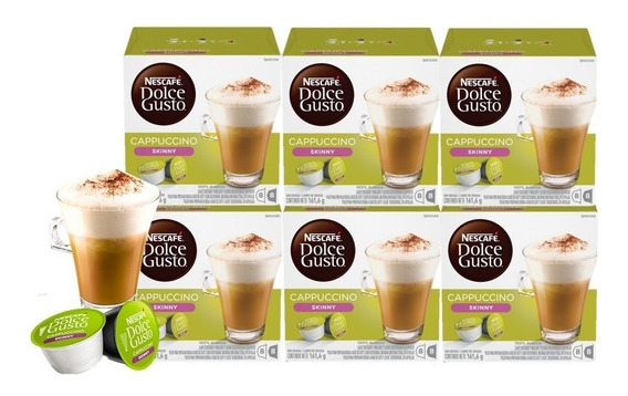 Dolce Gusto Capsulas Cappuccino Skinny Pack X6 Cajas