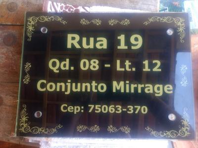 Placa De Endereço 40x30