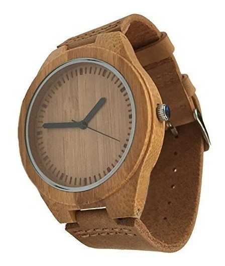 Reloj De Madera Genuino Ecológico (reloj De Movimiento De C