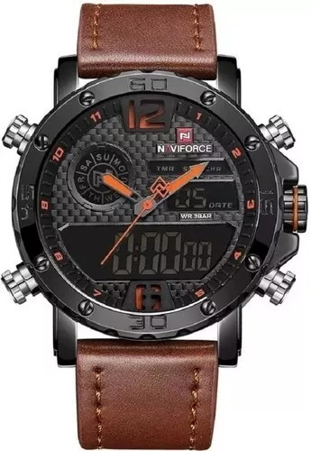 Relógio Masculino Naviforce 9134 Original Importad Esportivo