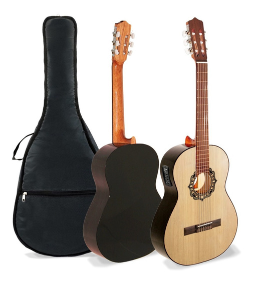 Guitarra Criolla Fonseca 25ec Con Eq Y Funda - Oddity
