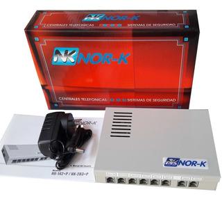 Central Telefonica Nork 2x8 C/portero 2 Hil. Garantia 1 Año.