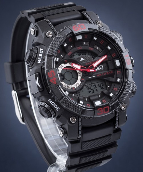 Relógio Marca Qq Gw87 Verm Fabricado Citizen Alta Qualidade