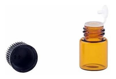 Wowlife Viales De Vidrio Ámbar De 2 Ml 5/8 Copita Botellas D