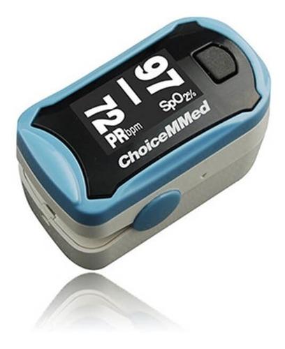 Imagen 1 de 1 de Oximetro De Pulso Digital Choicemmed Adulto Azul Cofepris
