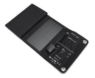 Cargador Solar Celulares Portátil Plegable Usb 10w Enertik