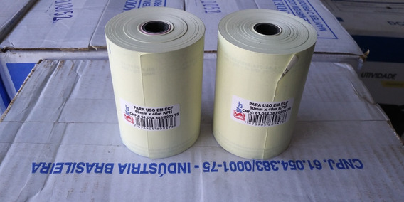 Bobina Térmica Silfer 80x40 Ecf, Pdv, Caixa C/30 Unidades