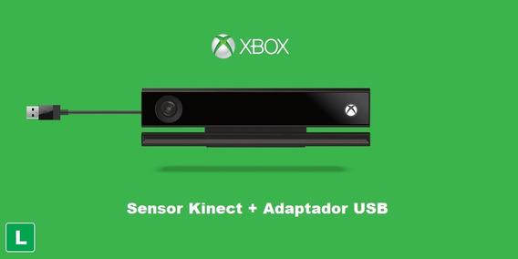 Kinect Xbox One Com Adaptador Usb Para Xbox X E S + Brinde