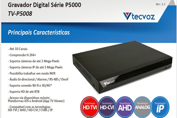 Tv-p5008 Gravador Digital Inteligente - Flex Hd 08 Canais
