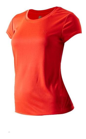 Mega Sports Remera Mujer - Basic Neon Red