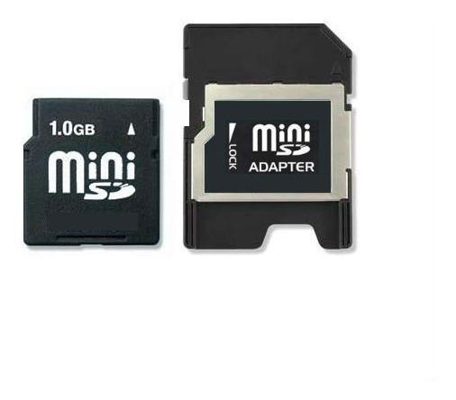 Cartão De Memória Mini Sd Secure Digital 1gb + Adaptador Sd