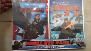 Como Entrenar A Tu Dragon Pack Dvd 1 Y 2 Nuevas Originales