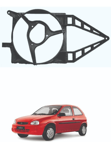 Defletor Do Radiador Corsa/classic S/ar 1998 1999 2000 2001