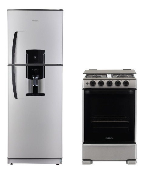 Combo Heladera Con Freezer + Cocina A Gas 55 Cm Patrick