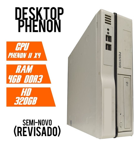 Desktop Phenon 2 X2 3.2 - Ddr3 4gb - 320gb Revisado