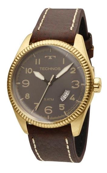 Relógio Technos Masculino Golf 2315acg/2p Dourado Couro