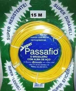 Guia Passafio C/ Cabo De Aço 15 Mts