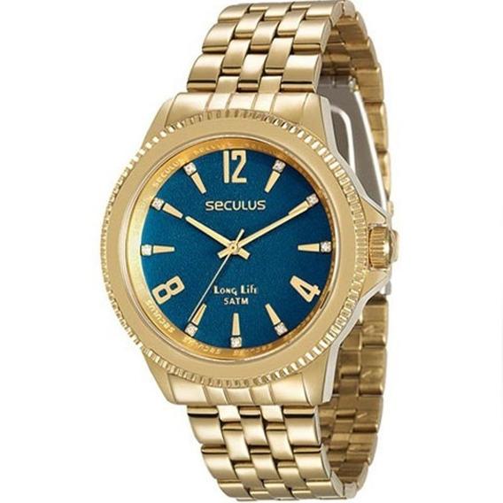 Relógio Seculus Feminino Dourado 28664lpsvda3