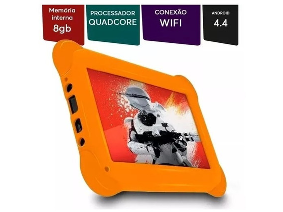 Tablet Multilaser Disney Star Wars 8gb Nb238 - Laranja