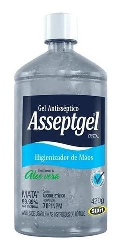 Álcool Gel Higienizador Mãos Antisséptico 70% Asseptgel 420g