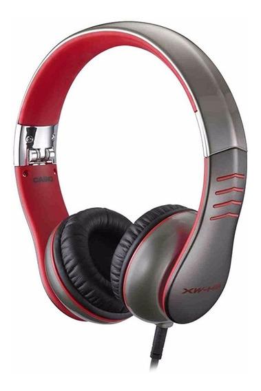 Fone De Ouvido Headphone Casio Xw-h3 Vermelho Flexível