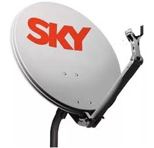 Antena Ku 60cm ( + Cabo E Lnb) Logo Sky, Claro Ou Vivo