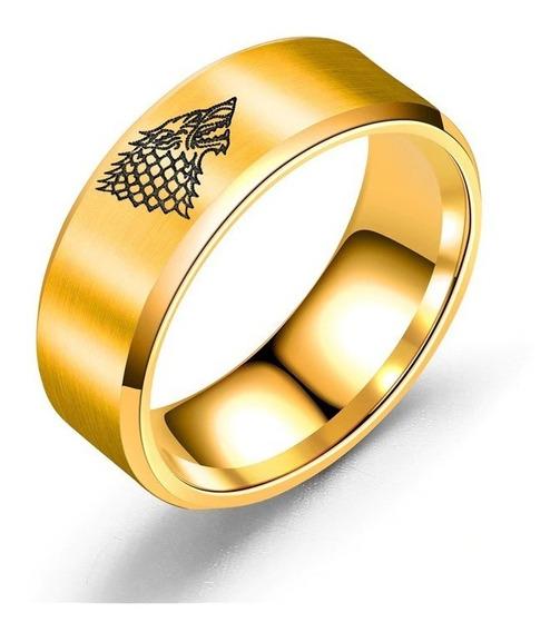 Anel Game Of Thrones Casa Stark Três Cores