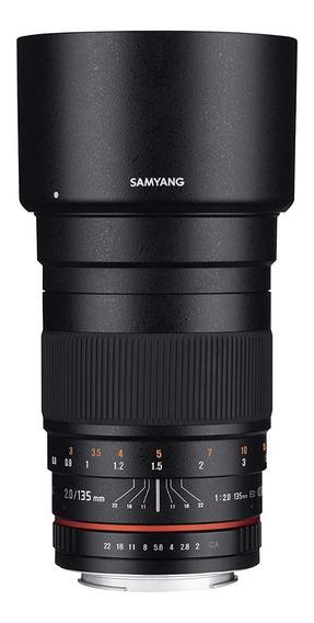 Lente Samyang Rokinon 135mm F/2 P/ Canon Eos Ef Nova Zerada