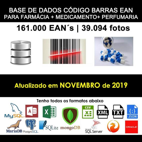 Banco De Dados Farmácia Perfumaria 161mil Eans + Fotos