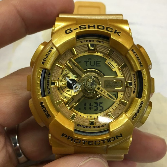 Relógio Casio G-shock Masculino Ga-100 Dourado