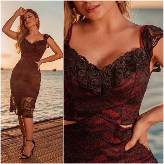 Vestido Alfaiataria Feminina Tubinho Midi Sereia Vafm2