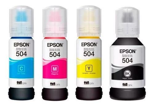 Imagen 1 de 1 de Kit 4 Tintas Epson Originales T504, N, C, M, A