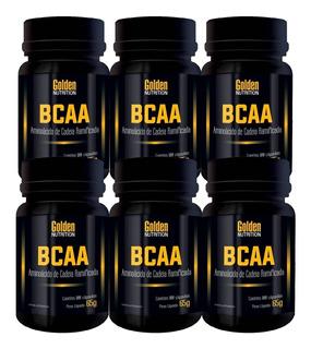 Kit 6x Bcaa - 100 Cápsulas - Golden Nutrition Promoção