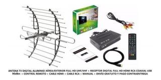 Tdt Sistema Digital Antena Y Receptor 50 Canales Hdm/rca/usb