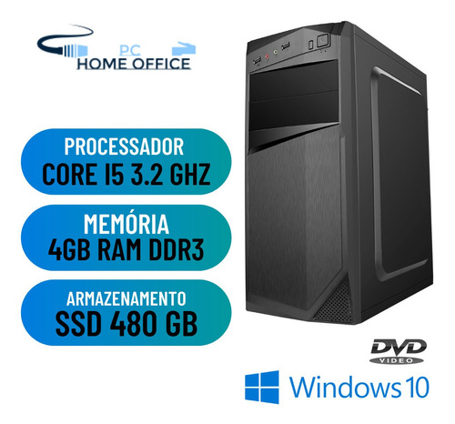 Imagem 1 de 2 de Cpu Desktop I5 4gb Ram Ssd 480gb Win10 Pró Dvd - Programas
