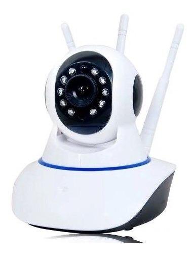 Câmera Ip 3 Antenas 720p Hd Wireless Wifi - Onvif 64 Gb