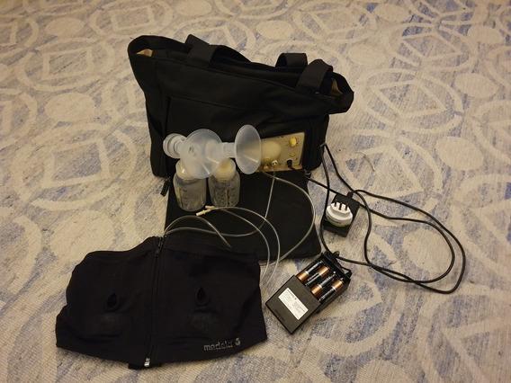 Bomba Leite Elétrica Medela Bilateral + Sutiã Medela + Mala