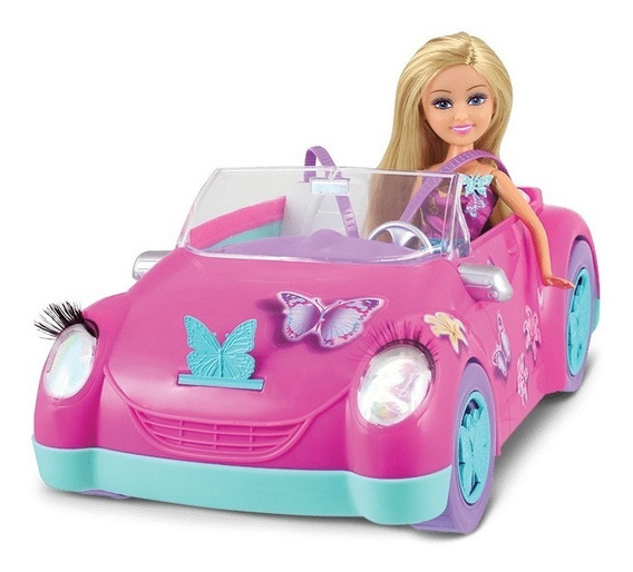 Boneca Sparkle Girlz - Fada Das Borboletas + Carro - Dtc