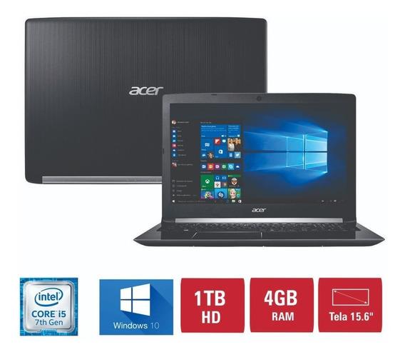 Notbook Acer I5-7200u 4 Gb De Memoria Ram 1000 Gb De Hd