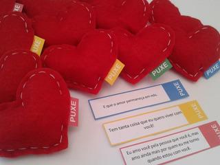 Presente Dia Dos Namorados Corações Com Puxe C/15