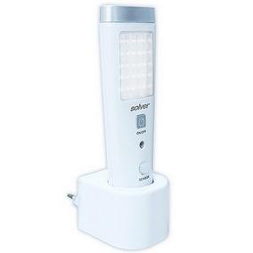 Luminária Com Sensor E Lanterna Slim 220 V Solver Slm-301