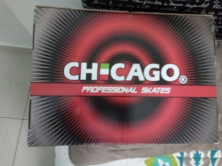 Chicago,profesional Skates O Patines Color Negro Talla 25.