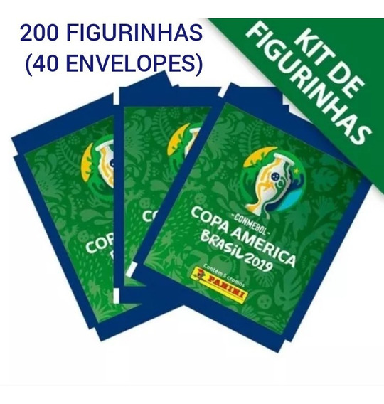 Oferta Kit 40 Envelopes (200 Figurinhas) Copa América 2019