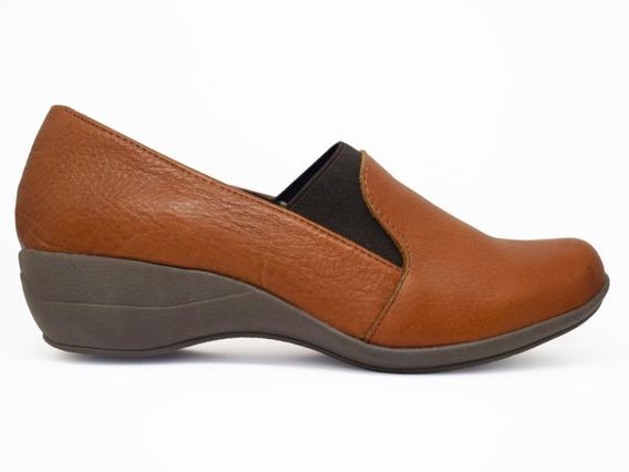 Zapato Con Elástico De Cuero