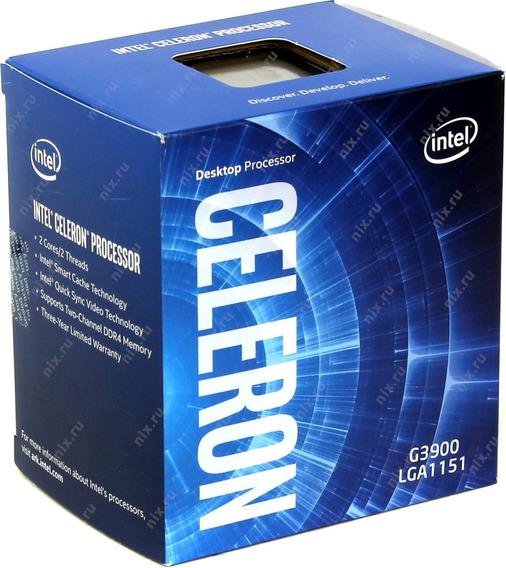 Celeron G3900 Socket 1151 2,8 Ghz Testado Na Caixa +garantia