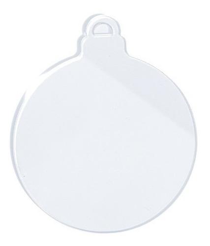 Esfera Navidad Decorativa Acrilico 10 Piezas 10 Cm Diámetro.