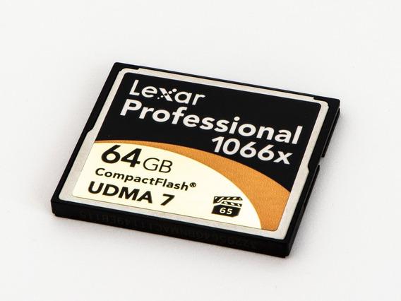 Cartão De Memória Cf - Compact Flash Lexar 64gb 1066x